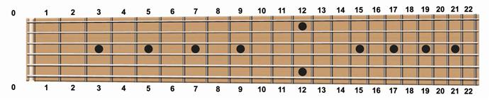 ギターメイプル指板図